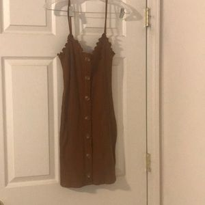 Brown button dress (size small)